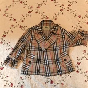 Burberry cropped Trench style lightweight jacket